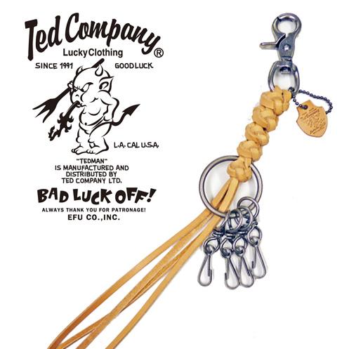 テッドマン テッドマンズ TEDMAN'S 編みこみレザーキーチェーン
