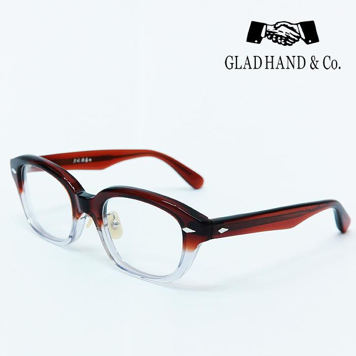 GLAD HAND 丹羽雅彦 サングラス ブラウン×クリアーフレーム×クリアーレンズ シルバーパーツ セルロイド 眼鏡 J-IMMY GLASSES ORNAMENT グラッドハンド にわまさひこ 鯖江 眼鏡 ジミー オーナメント