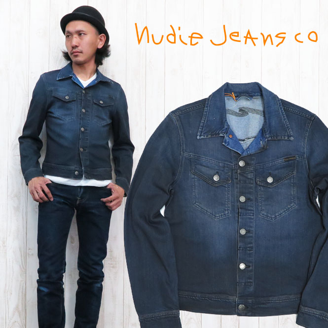 4902d12f5a32 Nudie jeans NUDIE JEANS Connie CONNY denim jacket denim G-ORG. BLACK ON BLUE  ...