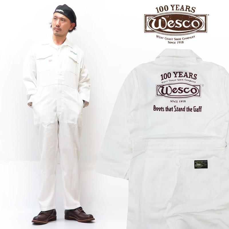 WESCO×山田辰 100周年限定 ツナギ AUTO-BI COVERALLS ウエスコ ロゴ刺繍 作業着 オールインワン