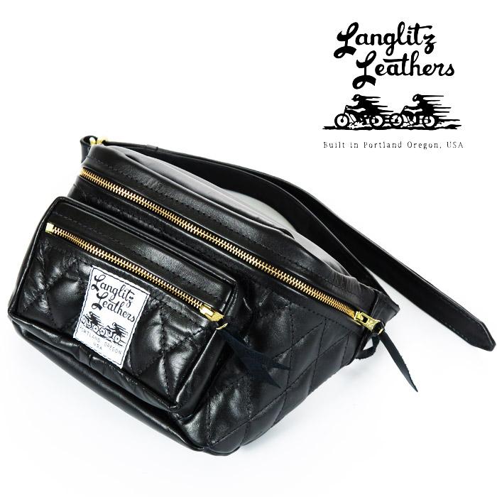 ラングリッツレザーズ Langlitz Leathers パッデッド アウトサイド ポケット ウエスト バッグ Padded Outside Pocket Waist Bag レザー ツールバッグ ポーチ 革 バイク