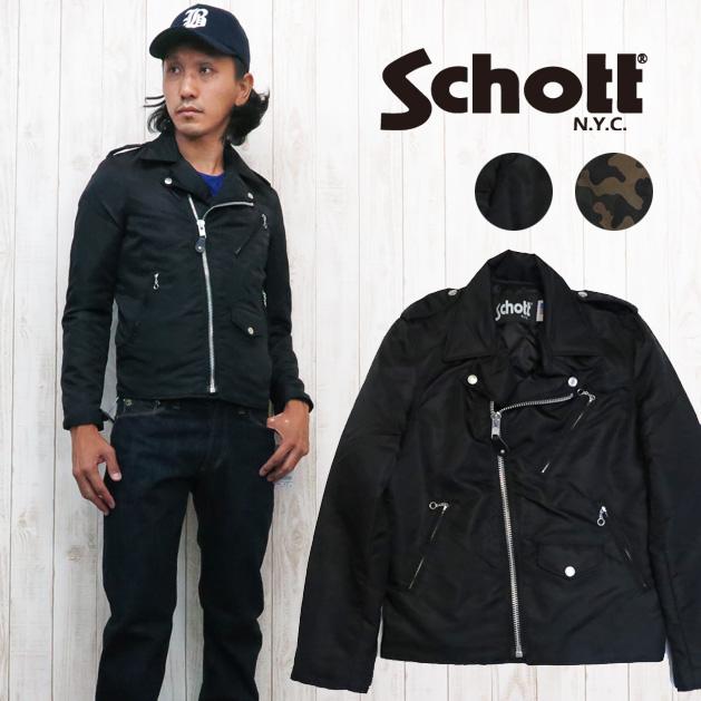 ショット Schott ナイロンライダースジャケット SCH3162018