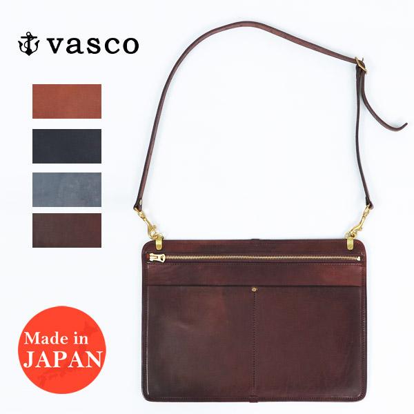 バスコ VASCO 3WAY レザー サコッシュ バッグ ショルダーバッグ クラッチバッグ バッグインバッグ MADE IN JAPAN ヴァスコ VS-241L