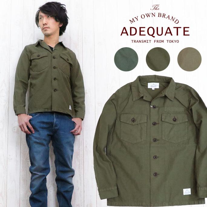 Adequate アディクエート ミリタリー ユーティリティ フィールドジャケット 長袖 7181205