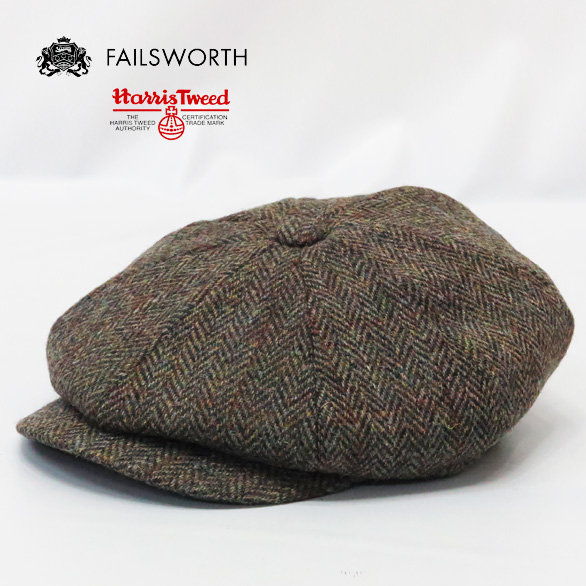 244eee3456ba45 Fails Worth Failsworth hunting cap Harris Tweed Carloway Harris Tweed  Calloway Newsboy cap 8 panel ...