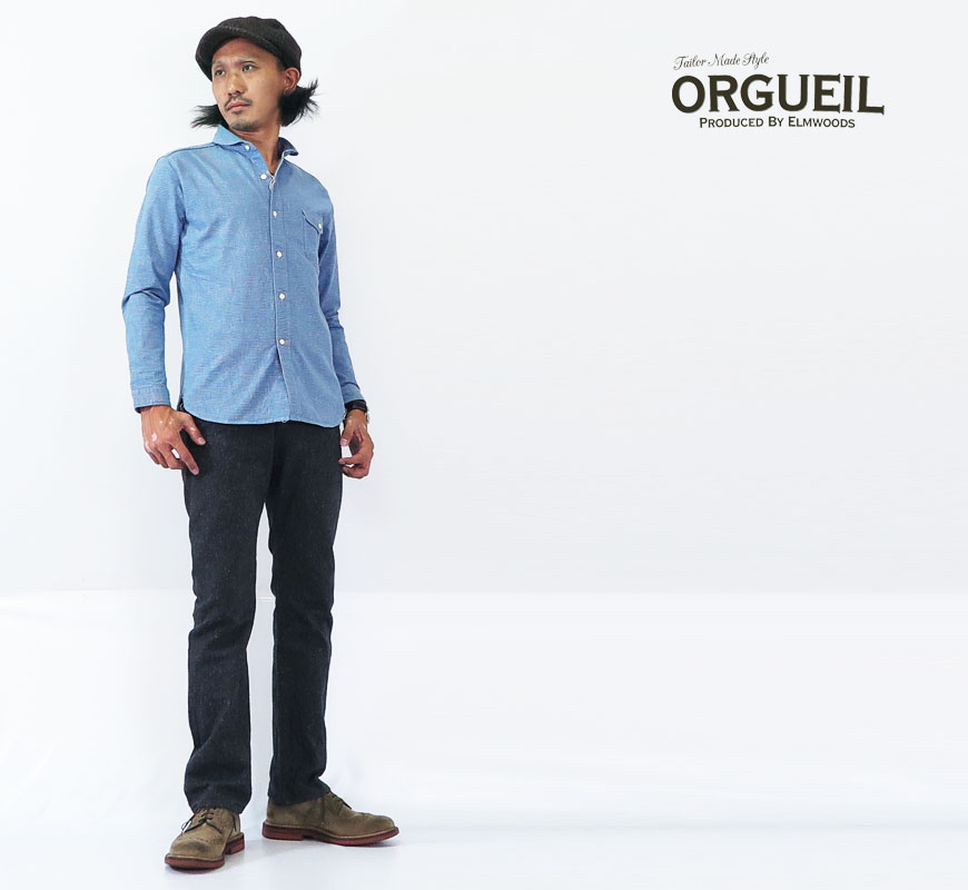 ORGUEIL オルゲイユ ワークパンツ ネップツイル トラウザーズ OR 1050BoWrdCxeB