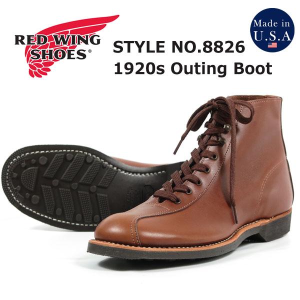 【期間限定特価】 REDWING レッドウィング 1920's アウティング ブーツ ティーク「フェザーストーン」 Outing Boots Style No.8826, ポスタービン 108fc74c