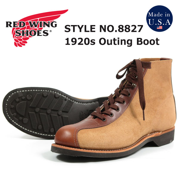REDWING レッドウィング 1920's アウティング ブーツ ホーソーン「ミュールスキナー」&ティーク「フェザーストーン」 Outing Boots Style No.8827