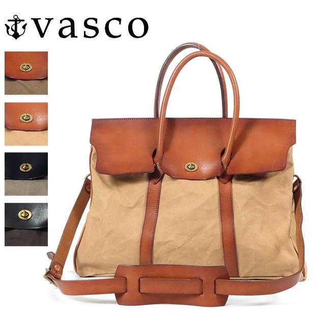 バスコ VASCO キャンバス レザー サドルバッグ 2WAY ショルダーバッグ トートバッグ MADE IN JAPAN ヴァスコ VS-270PS
