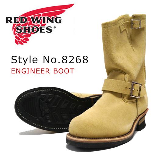 """红红翼工程师靴子麂皮绒霍桑""""阿比林""""Roughout 样式 No.8268"""