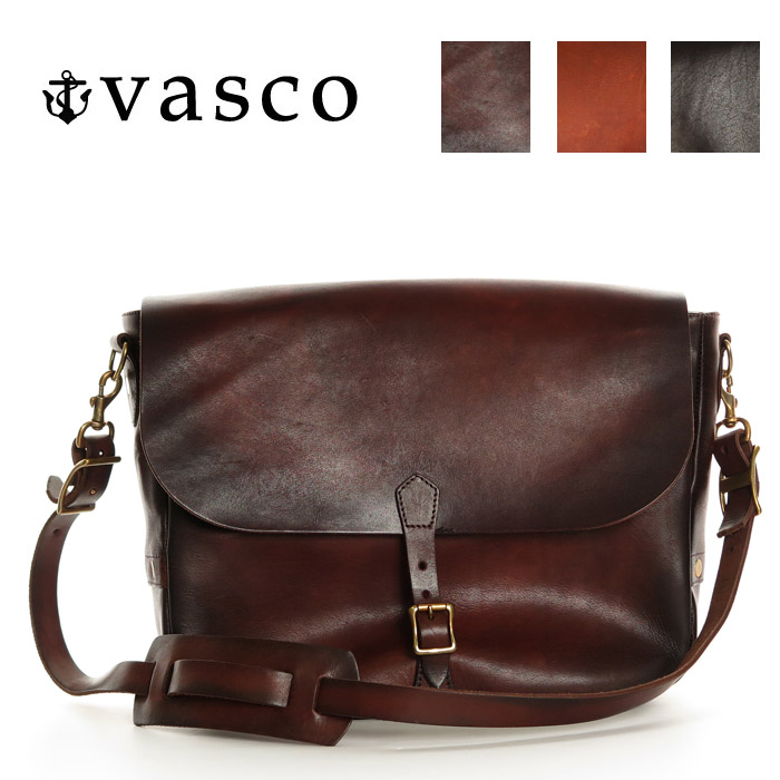 a1a4f533f7 Earth Market  Basco VASCO bag leather postman shoulder bag MADE IN ...