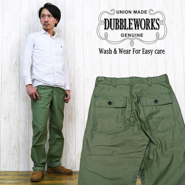ダブルワークス DUBBLE WORKS ミリタリーパンツ サテンコットン ワークパンツ ww24002
