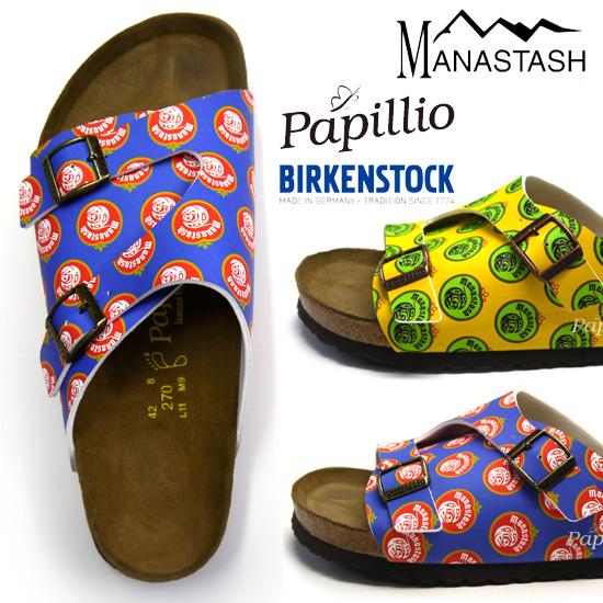 "BIRKENSTOCK PAPILLIO birukenshutokkupapiriomanasutasshu MANASTASH皮革凉鞋""苏黎世""Zurich人mana7149013"