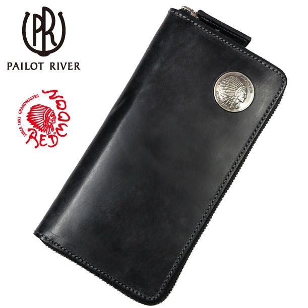 レッドムーン REDMOON パイロットリバー PAILOT RIVER ブライドルレザー  ラウンドジッパー ロングウォレット インディアンコンチョ LPSQ-BDRM30 サドルレザー 革 財布