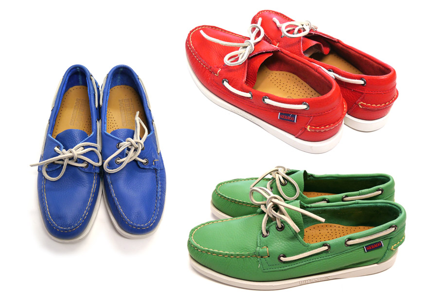 """セバゴSEBAGO甲板鞋""""Docksiders""""皮革鞋船坞旁边"""