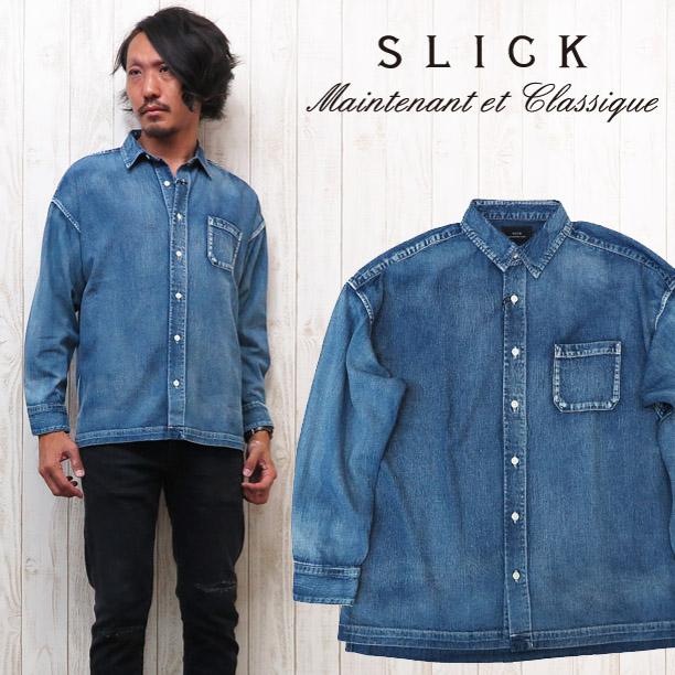 スリック SLICK 6.5oz デニム オーバーサイズシャツ 5169222