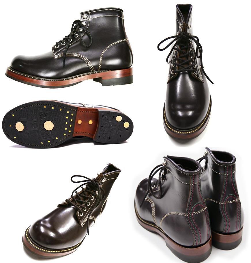 """玩具的麦科伊TOYS McCOY工作长筒皮靴""""サーヴェイヤー""""黑色WORK BOOTS """"SURVEYOR"""" BROWN"""