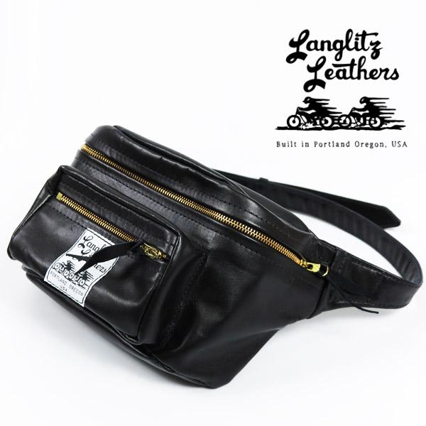 ラングリッツレザーズ Langlitz Leathers アウトサイド ポケット ウエスト バッグ Outside Pocket Waist Bag レザー ツールバッグ ポーチ 革 バイク