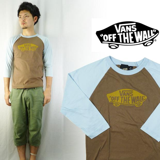 VANS 빵 MADE IN USA 베이스볼 T 셔츠 「 OFF THE WALL 」