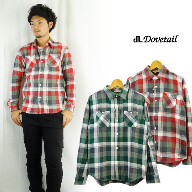 ダブテイル DOVETAIL チェックワークシャツ