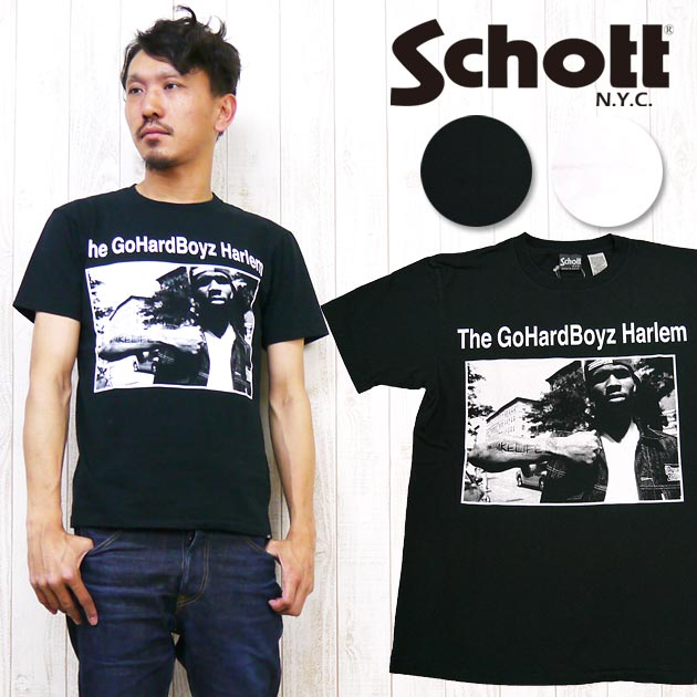 ショット Schott×Janette Beckman Tシャツ 半袖 「Wheelie」 フォト プリント コラボレーション ジャネットベックマン 3143055