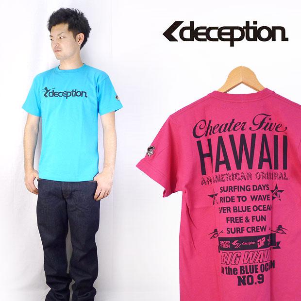 "DECEPTION×CHEATERFIVE disepushon×猎豹五双姓名印刷短袖T恤""HAWAII"""