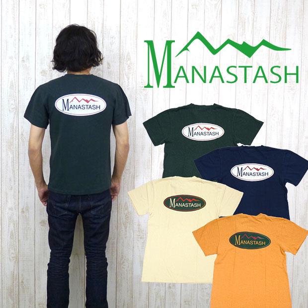 マナスタッシュ MANASTASH Tシャツ 半袖 ヘンプ 麻生地 ロゴ