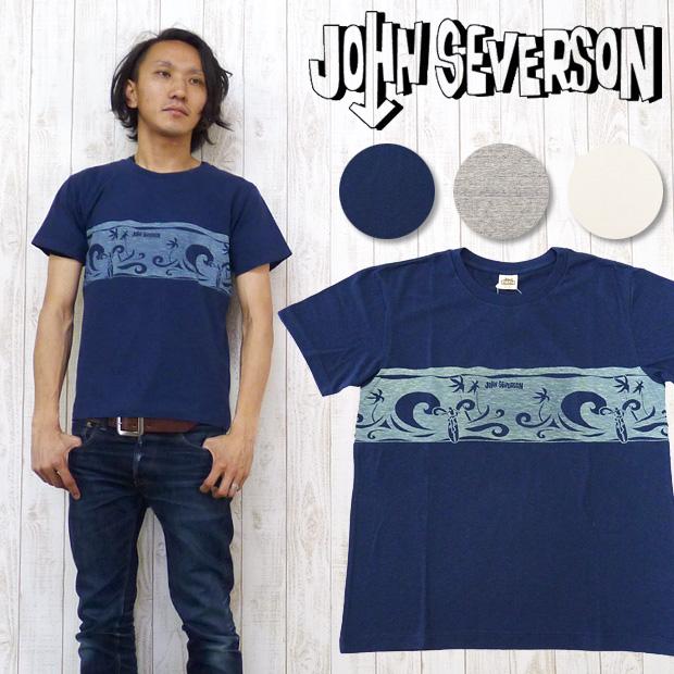 ジョンセバーソン John Severson 半袖 Tシャツ プリント 「SURF POLYNESIA」 JS76257