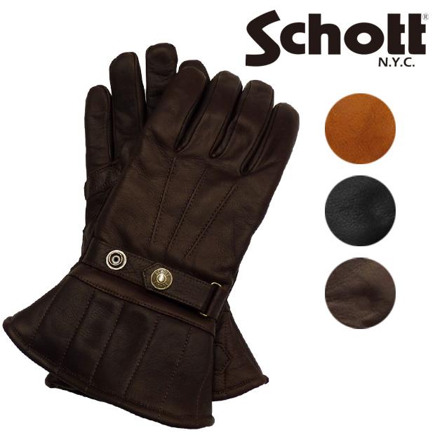 ショット Schott レザー グローブ カウレザー 牛革 ミドル 3119034