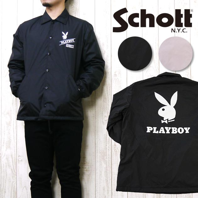 ショット Schott コーチ ジャケット ナイロン シェルジャケット 「PLAY BOY」 COACH JACKET 3152005