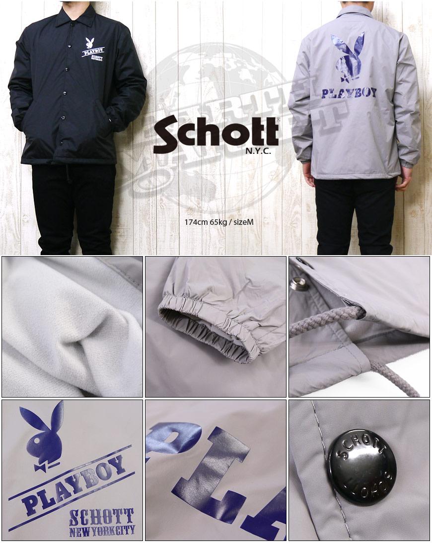 ショット Schott コーチ ジャケット ナイロン シェルジャケットPLAY BOYCOACH JACKET 3152005lJcKuF13T
