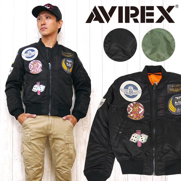 AVIREX アビレックス アヴィレックス MA-1 ジャケット フライト TOP GUN トップガン ミリタリー カモフラージュ 6152164
