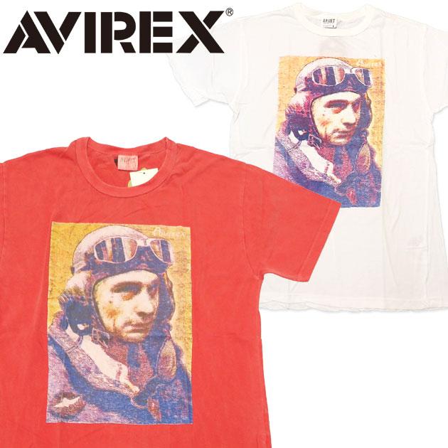 AVIREX アビレックス アヴィレックス 半袖 Tシャツ プリント 後染め ピグメント ミリタリー 6173020