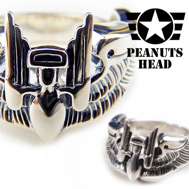 "PEANUTS HEAD地线市场银子925飞行员环""Aerial Gunner"""