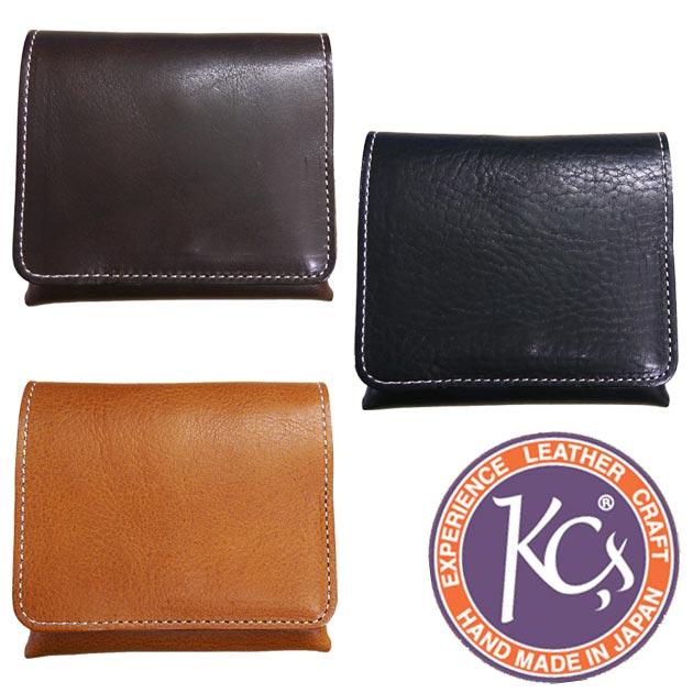 KC'S ケーシーズ 財布 サイフ ウォレット ショート コインケース 二つ折り財布 小銭入れ ビルフォード ショートシーム オイルバケッタ レザー ピッグスエード(豚革) KCB001