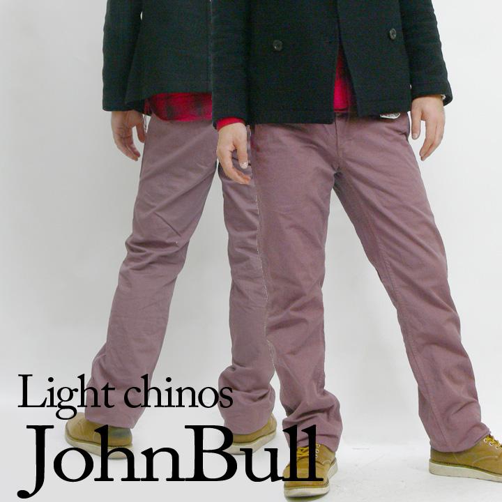ジョンブル JOHNBULL ライトチノズ(スリムチノパンツ)