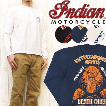 インディアンモーターサイクル Indian Motorcycle 長袖プリントTシャツ「DEATH CHIEF」