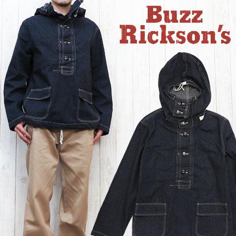 バズリクソンズ Buzz Rickson's ジャケット プルオーバー デニム フーデッド