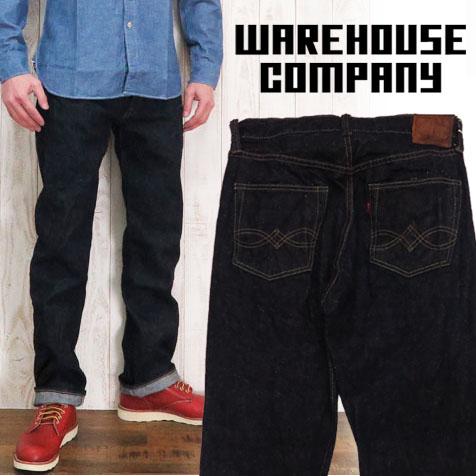 仓库WAREHOUSE牛仔裤DD-1003XX 1947MODEL大战役型号常规笔直一洗涤14.5oz DUCK DIGGER dakkudigajipan牛仔裤粗斜纹布