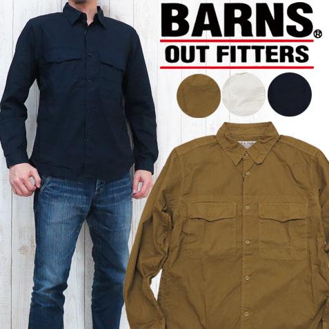 BARNS HIGHEST バーンズ ハイエスト ドビーWP ミリタリーシャツ BH-2108