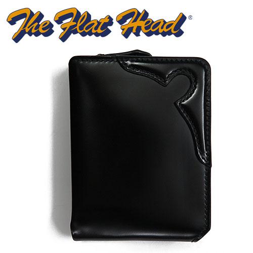 フラットヘッド THE FLAT HEAD ハーフジップ ウォレット CORDOVAN コードバン 馬革 多脂革 牛 レザー STOCK BURG HALF FOLD WALLET FH-BW003 【受注生産】