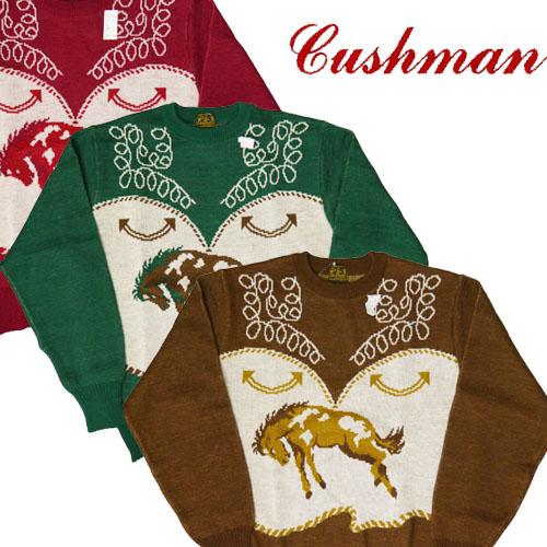 クッシュマン CUSHMAN ウール100% ニット セーター CM27945