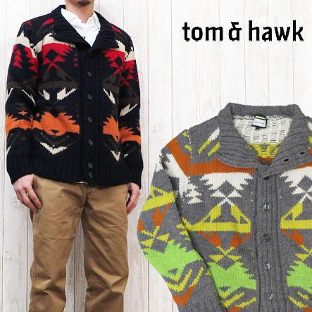 トム&ホーク TOM&HAWK カーディガン セーター ネイティブ Butch Cassidy