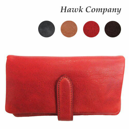 ホークカンパニー HAWK COMPANY ウォレット 財布 イタリアンレザー ロング 二つ折り 3418