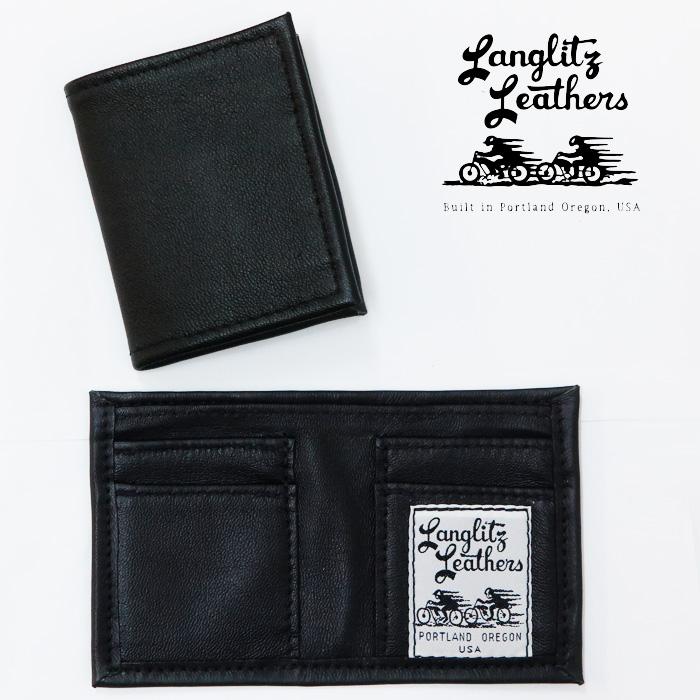 ラングリッツレザーズ Langlitz Leathers ゴートスキン レザー Dave's ウォレット 山羊革 カードケース 札入れ 【2020年 秋冬 新作】