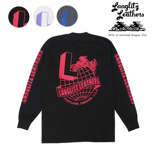 ラングリッツレザーズ Langlitz Leathers 長袖 プリント Tシャツ LL-LS-286