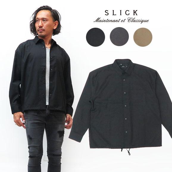 スリック SLICK 長袖 クリア ツイル シャツ ジャケット SLK5155457