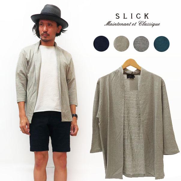 スリック SLICK リネン ボタンレス カーディガン 羽織り SLK5355414