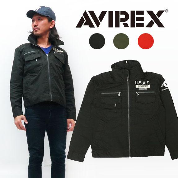 AVIREX アビレックス 長袖 ストレッチ シンプル ミリタリー ジャケット 6102148 【2020年 春夏 新作】