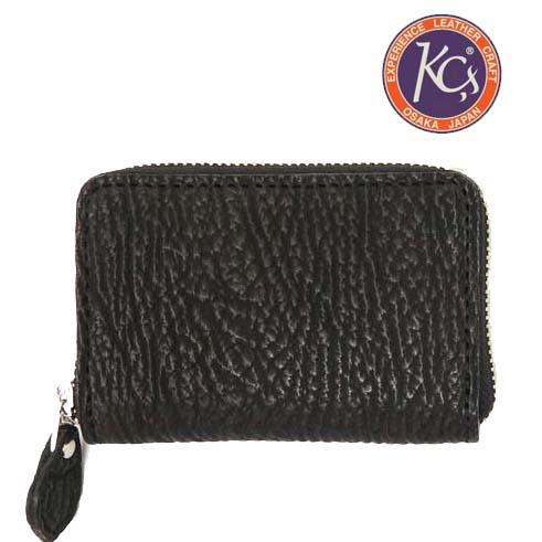 KC'S ケーシーズ 財布 ラウンドジップ ミニウォレット シャーク 鮫革 レザー KIB525